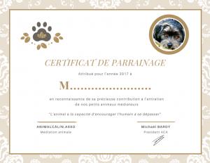 Certificat de parrainage